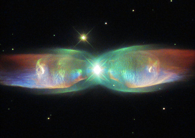 The Hubble Space Telescope's latest image reveals a distant nebula known as Minkowski's Butterfly.