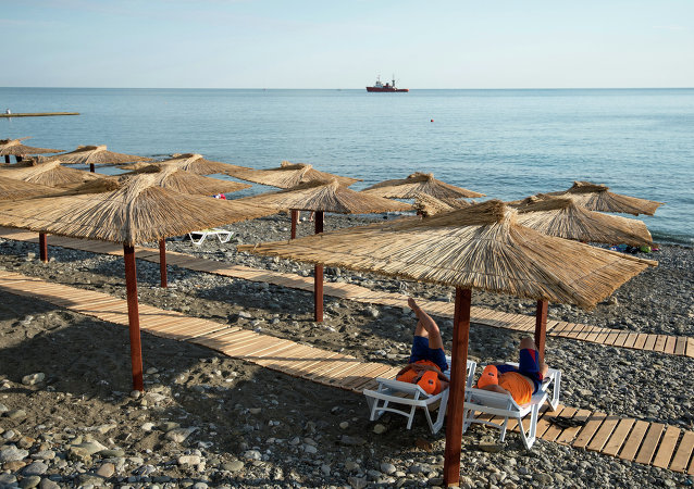 A view of a municipal beach in central Sochi.