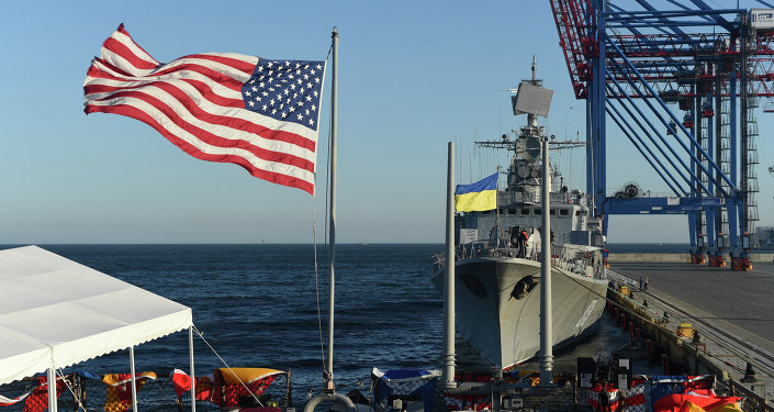 Ukraine (Sept. 1, 2015) USS Donald Cook (DDG 75) and Ukrainian navy ship UKRS Hetman Sahaydachniy (U130) moored in Odesa, Ukraine for Sea Breeze 2015