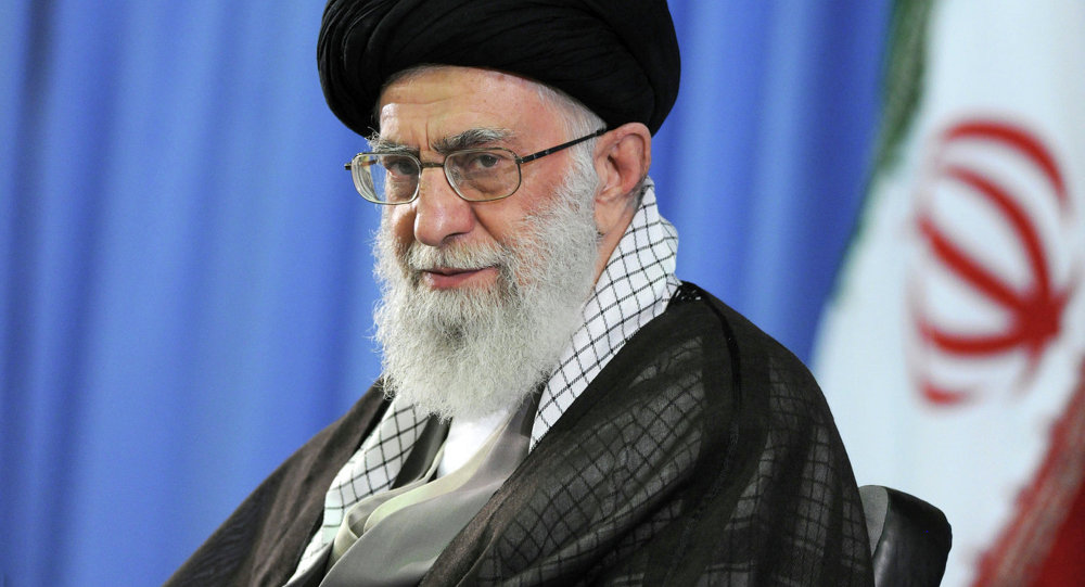 In this file picture released by the official website of the office of the Iranian supreme leader on Saturday, July 11, 2015, Supreme Leader Ayatollah Ali Khamenei attends a meeting with university students in Tehran, Iran