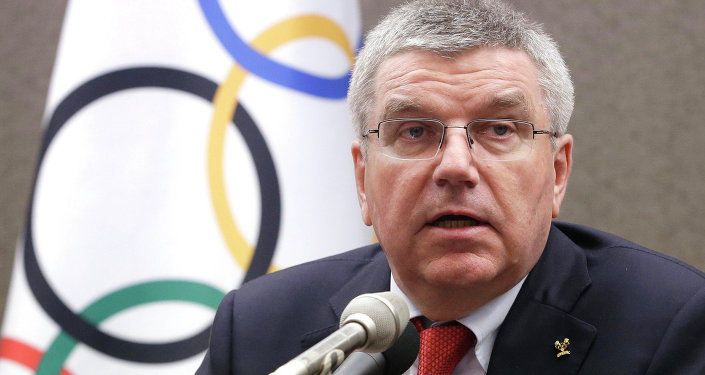 International Olympic Committee (IOC) President Thomas Bach speaks during a press conference in Seoul, South Korea, Wednesday, Aug. 19, 2015