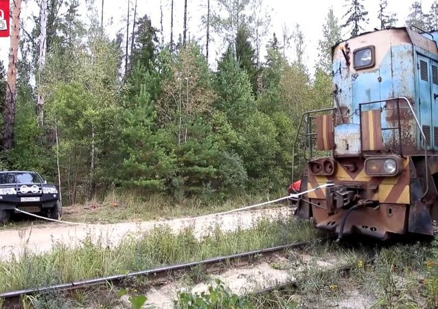 The power of a locomotive.