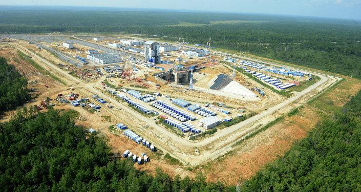 Construction of Vostochny space center in Amur Region