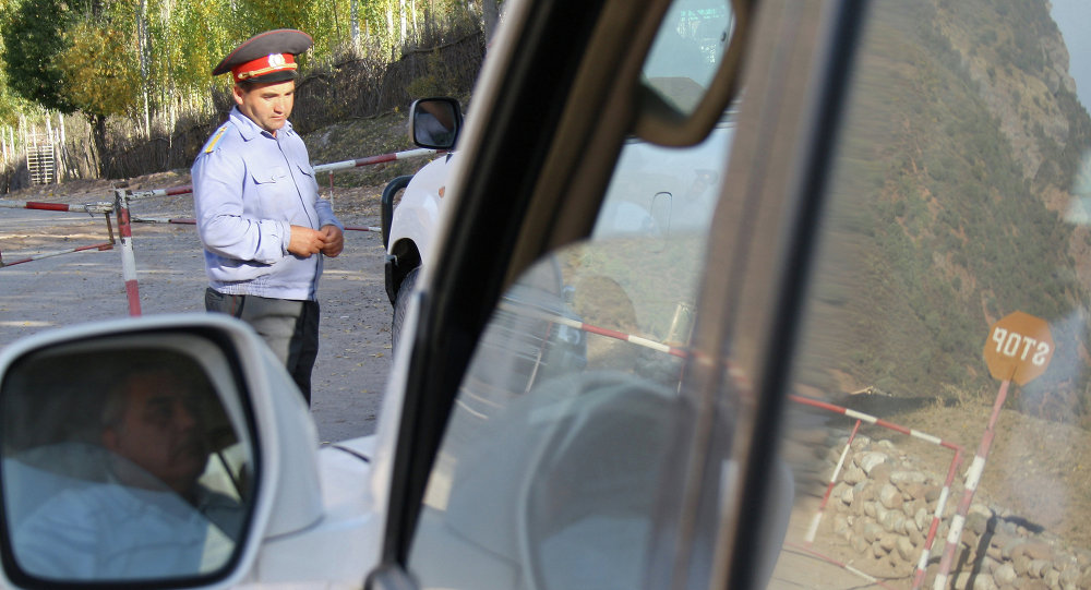 Checkpoint in Tajikistan. File photo