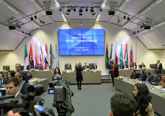 A general view shows the166th ordinary meeting of the Organization of the Petroleum Exporting Countries, OPEC, at their headquarters in Vienna, Austria