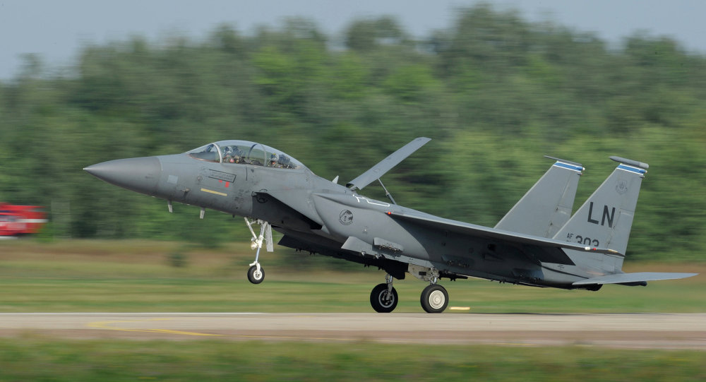 US McDonnell Douglas F-15 Eagle twin-engine and all-weather tactical fighter. File photo