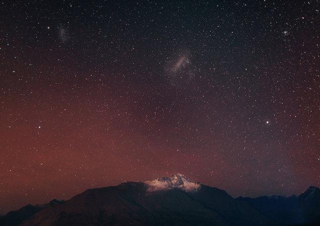 Stars under night sky