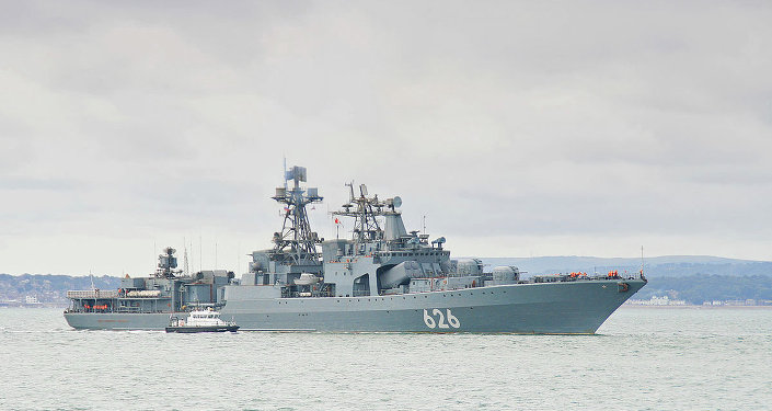 Udaloy class destroyer of the Russian Federation Navy RFS Vitse Admiral Kulakov