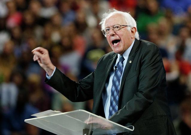 Democratic presidential candidate, Sen. Bernie Sanders