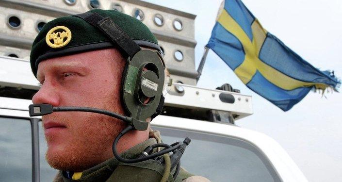 A Swedish soldier