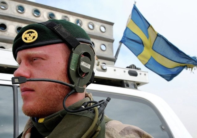 A Swedish soldier