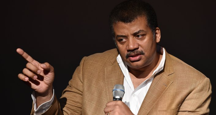 Neil deGrasse Tyson, astrophysicist, Cosmos television show host and Frederick P. Rose Director of the Hayden Planetarium at the American Museum of Natural History speaks August 4, 2014 after a screening of James Cameron's Deepsea Challenge 3D film at the museum in New York.