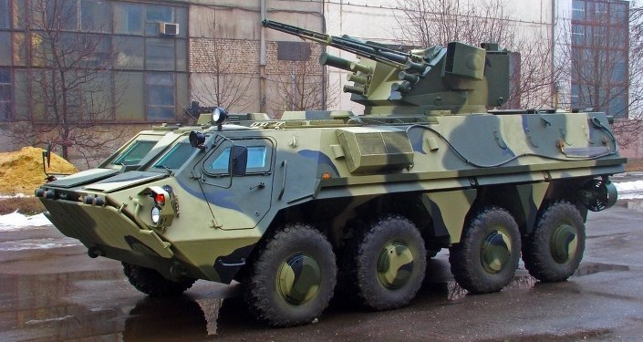 BTR-4 with the fighting module Parus