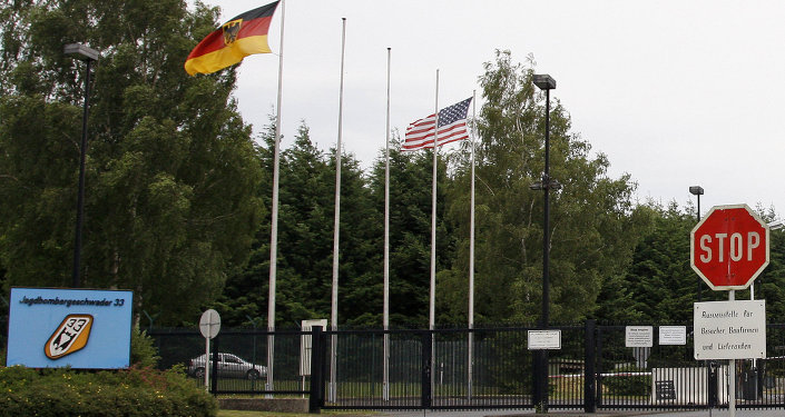The main gate of the airbase in Buechel/Cochem, Germany, photographed on Sunday, June 22, 2008