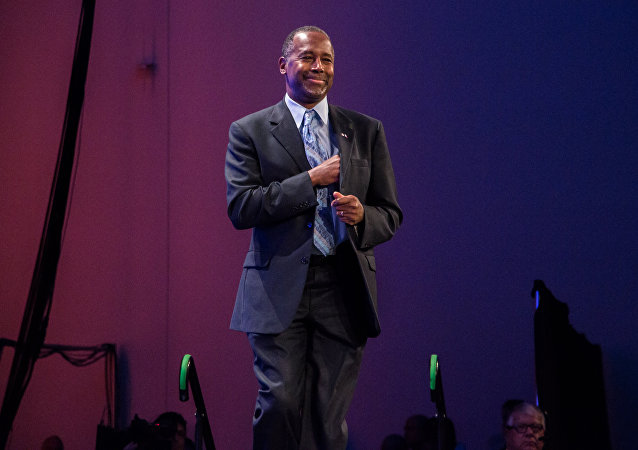 Doctor Ben Carson at the 2015 Lincoln Dinner in Des Moines, Iowa.