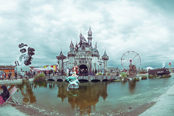 Cinderella's Castle at Dismaland: step inside the fairy tale and see how it feels to be a real princess.
