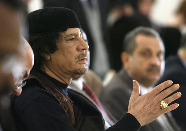 Leader of the Socialist People's Libyan Arab Jamahiriya Muammar Gaddafi. (File)