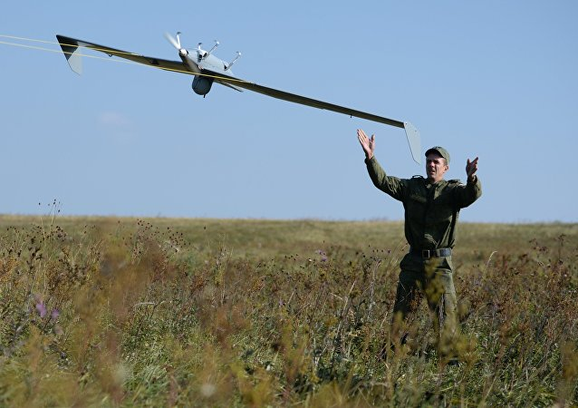 Launch of UAV during an exercise. File photo