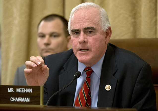 Rep. Patrick Meehan, R-Pa., speaks on Capitol Hill in Washington