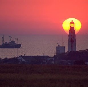A lighthouse in western Crimea.