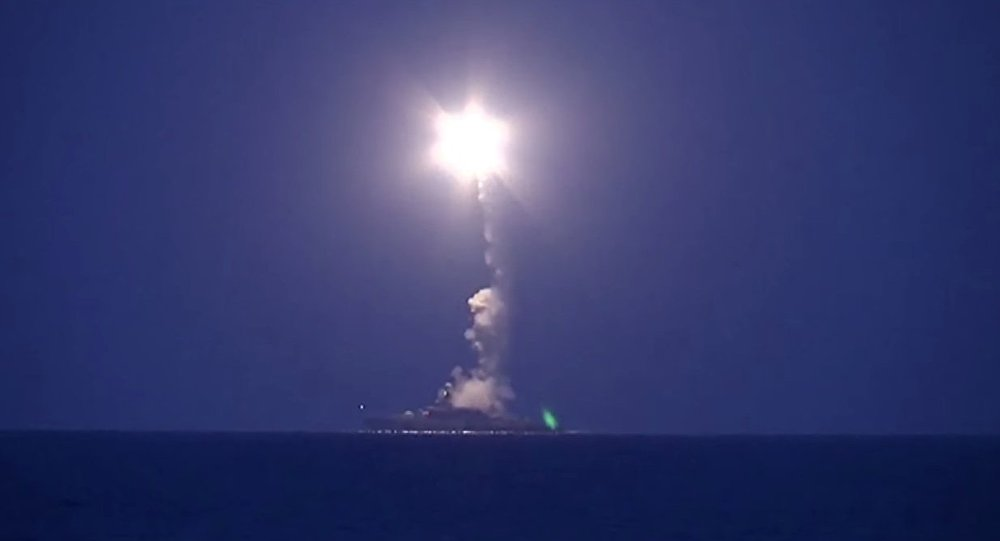 Massive strike on targets in Syria from the Caspian Sea