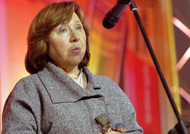Belarusian writer Svetlana Alexievich