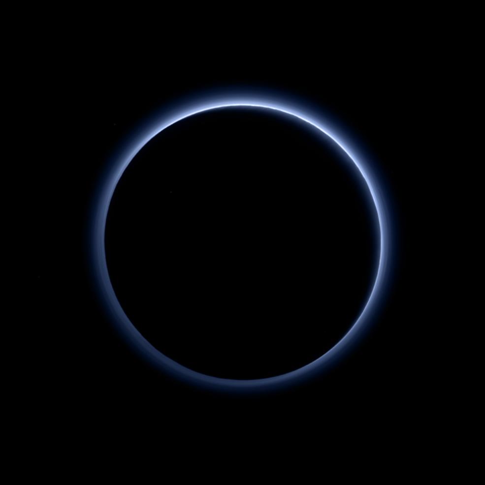 Pluto's Blue Sky