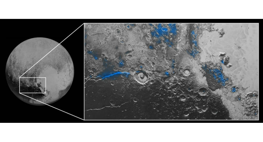 Water Ice on Pluto
