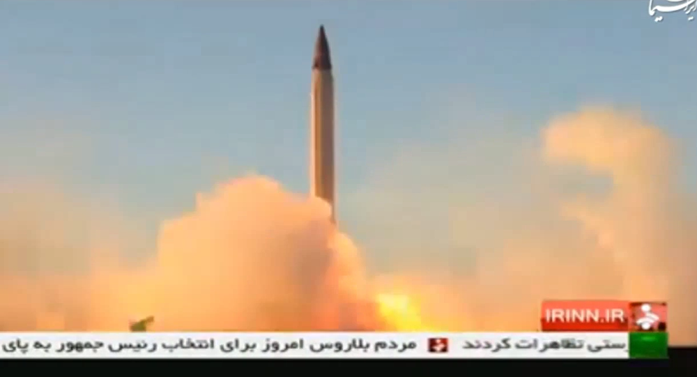 Iran Emad ballistic missile with high precision guidance and control systems till reach its target