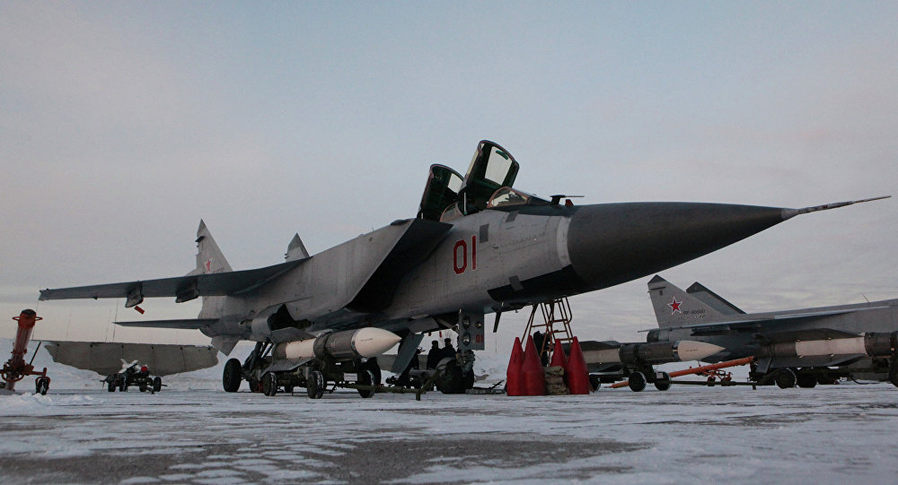 Interceptor fighter MiG-31BM