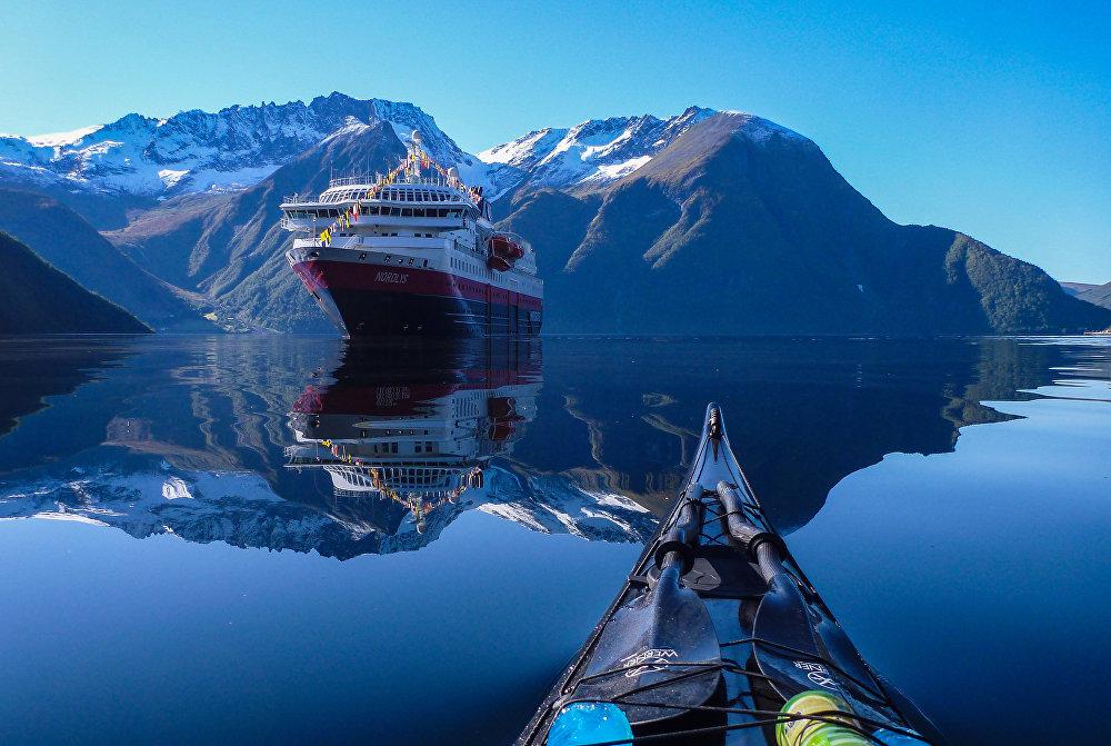 Hjørundfjorden fjord, Norway