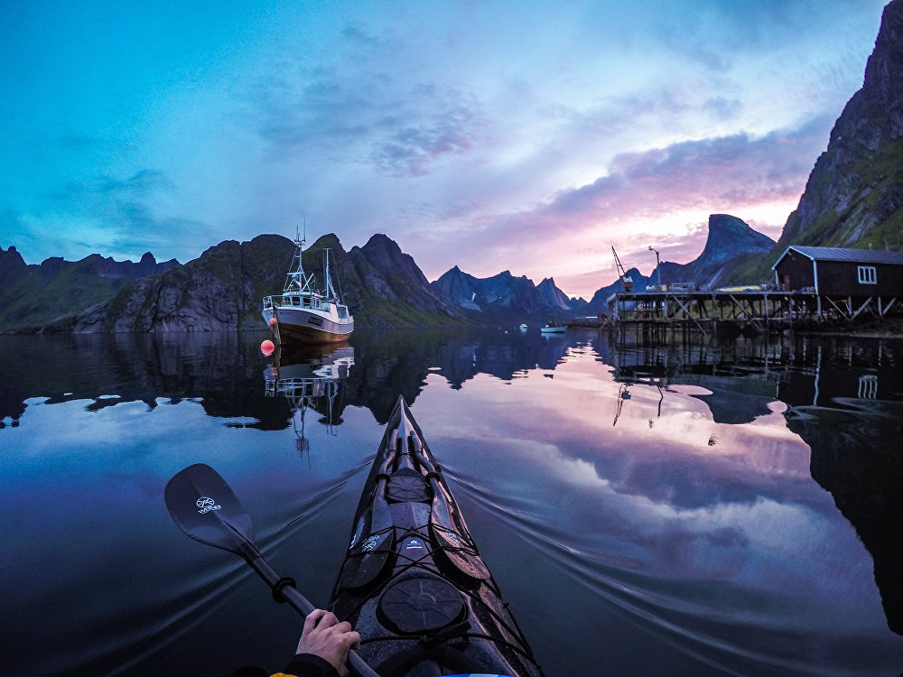 Kjerkfjorden, Lofoten Islands, Norway