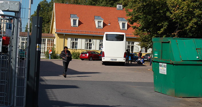 Refugees are seen at the Refstad tempoary transit center for refugees in Oslo, Norway on September 9, 2015
