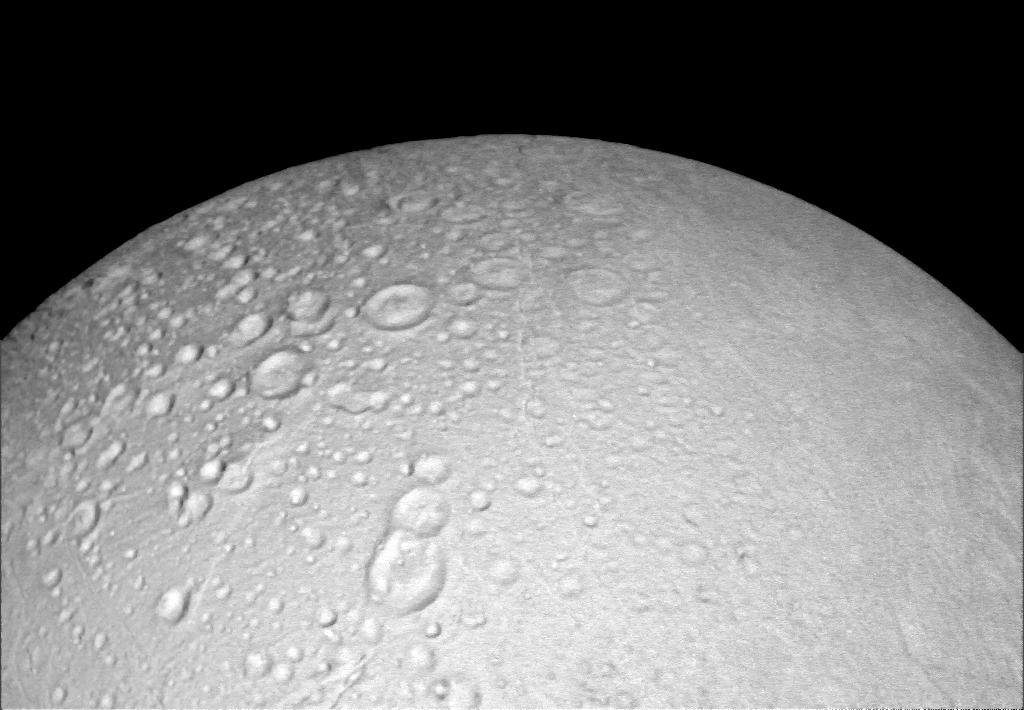 Craters Crowd the North of Enceladus