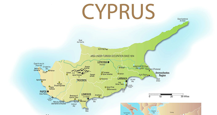 Main Cyprus Map
