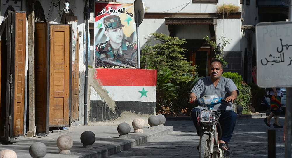 A street in Damascus.