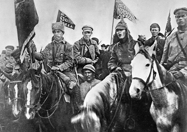 Soldiers of the 1st mounted army