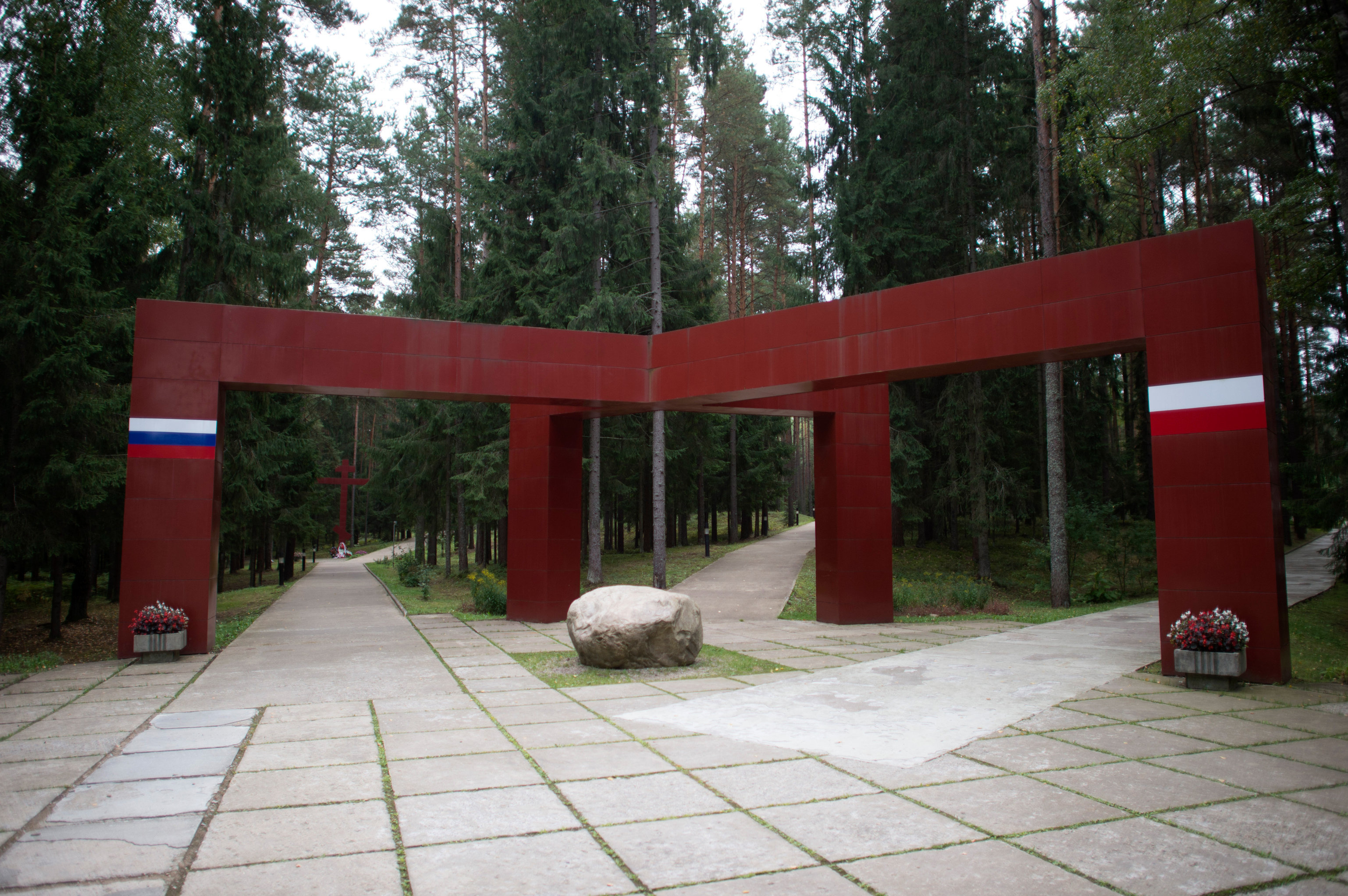 The Katyn memorial in the Smolensk Region, Russia