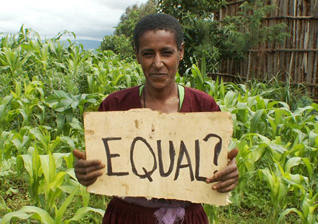 A farmer in Biresaw, Ethiopia