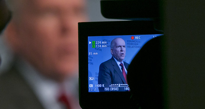 CIA Director John Brennan addresses a meeting at the Council on Foreign Relations, in New York, Friday, March 13, 2015