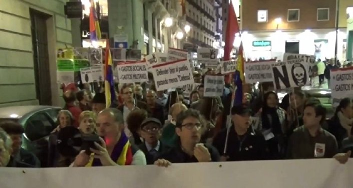 Anti-NATO protesters in Madrid