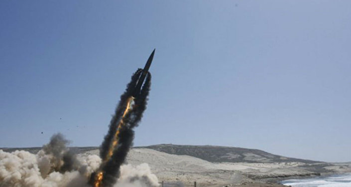 A US Army Lance missile is launched