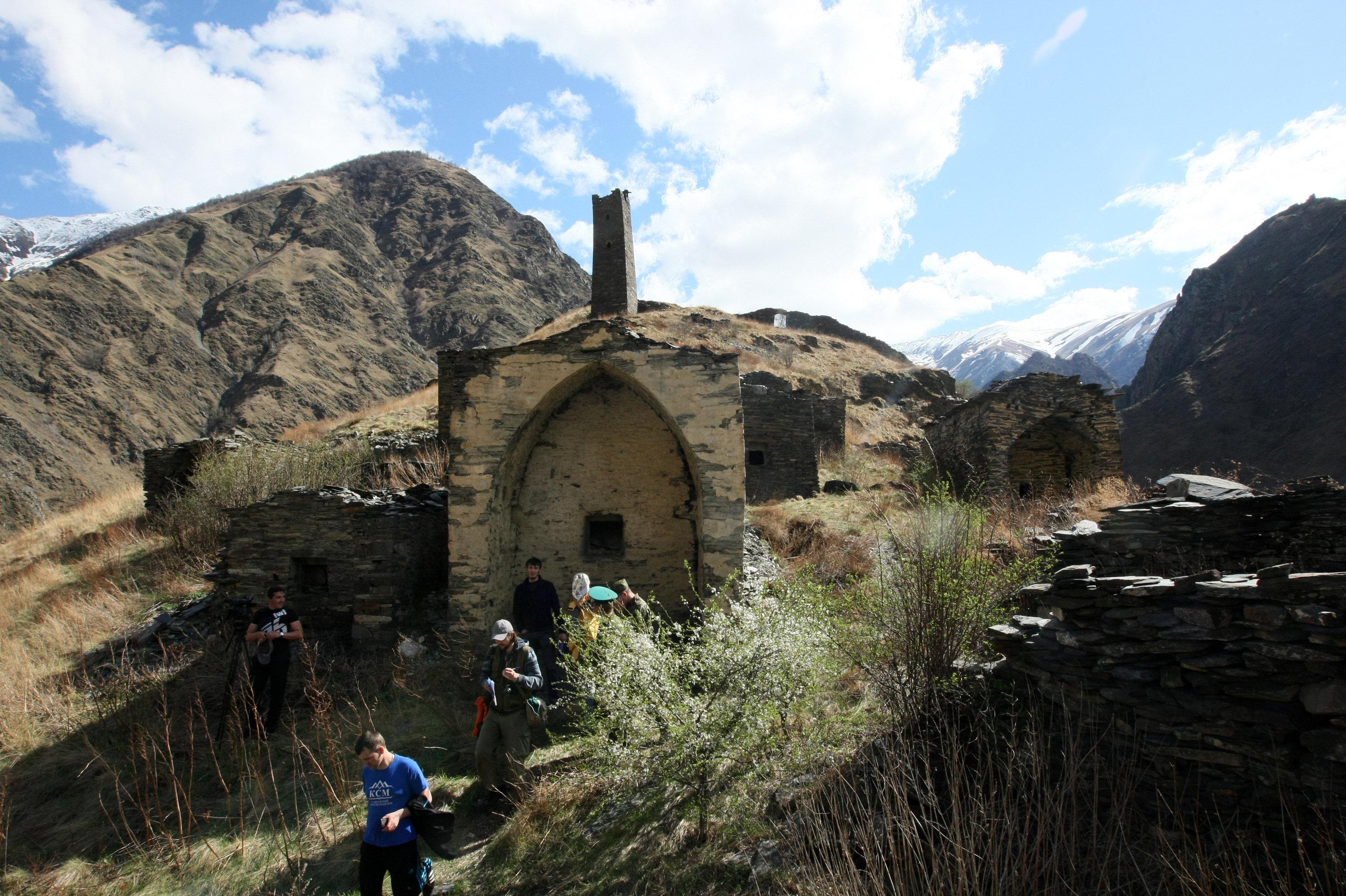 The Tsoi-Pede Necropolis in the Argunsky nature reserve, Itum-Kalinsky District, Chechen Republic, near the Georgian border
