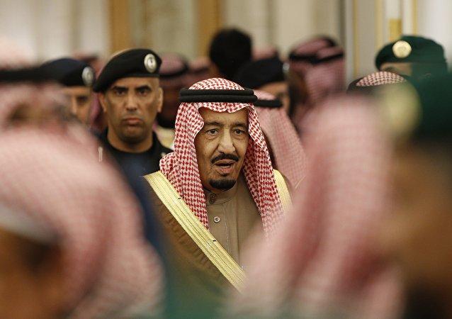 In this Jan. 24, 2015 file photo, Saudi Arabia's King Salman attends a ceremony at the Diwan royal palace in Riyadh.