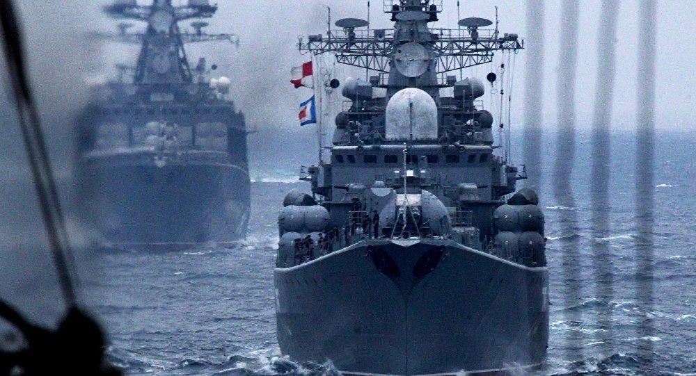 Russian Pacific Fleet warships. File photo