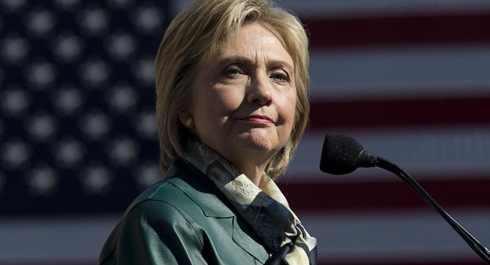 Democratic Presidential hopeful Hillary Clinton