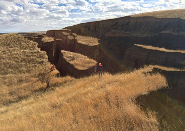 The crack was discovered in Wyoming's Bighorn Mountains.