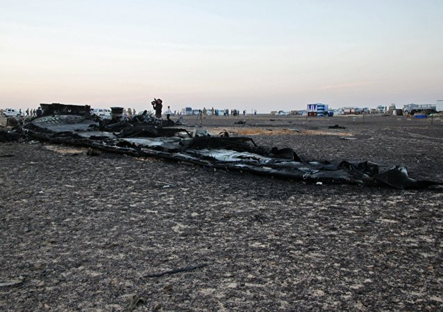 Search operations at Airbus A321 crash site in Egypt