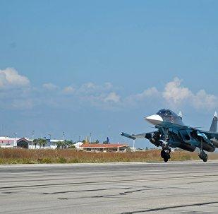 Russian warplanes at Hmeymim Airbase, Syria