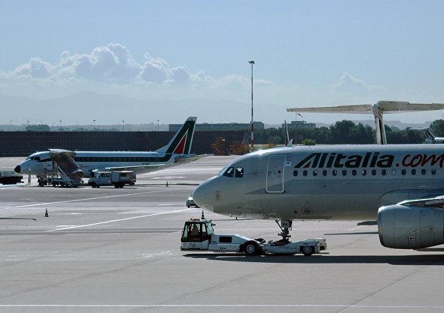 An Alitalia Airbus